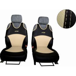 Autopotahy Active Sport kožené, sada pro dvě sedadla, béžové