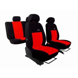 Autopotahy Volkswagen VW T4, 3 místa, ELEGANCE ALCANTARA, červené