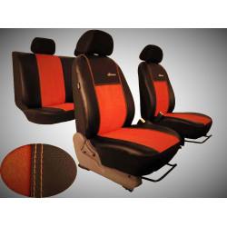 Autopotahy Peugeot Boxer II, 3 místa, stolek, EXCLUSIVE kožené s alcantarou, cihlové