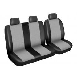 Autopotahy Renault Master, 3 místný, do r. 2010, Eco kůže + alcantara šedé