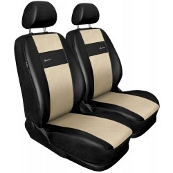 Autopotahy X-LINE kožené, sada pro dvě sedadla, béžové