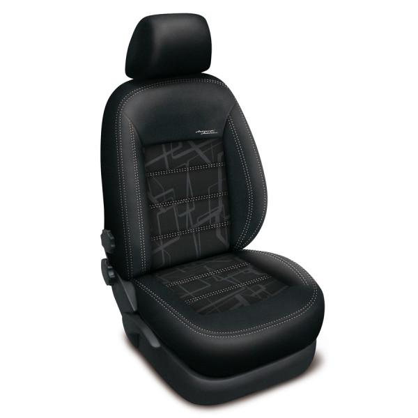 Autopotahy HONDA ACCORD VIII sedan, od r. 2008, AUTHENTIC DOBLO, matrix černý