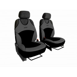 Autopotahy Active Sport Alcantara, sada pro dvě sedadla, šedé