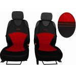 Autopotahy Active Sport kožené s alcantarou, sada pro dvě sedadla, červené