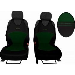 Autopotahy Active Sport kožené s alcantarou, sada pro dvě sedadla, zelené