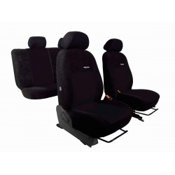 Autopotahy VW Golf V, 03-09, dělené z.opěradlo a sedadlo, ELEGANCE ALCANTARA  černé
