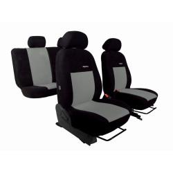 Autopotahy VW Golf V, 03-09, dělené z.opěradlo a sedadlo, ELEGANCE ALCANTARA  černošedé