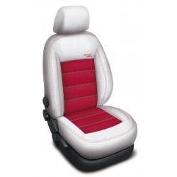 Autopotahy Volkswagen TOURAN, 5 míst, od r. 2003- 2010, AUTHENTIC VELVET, bíločervené