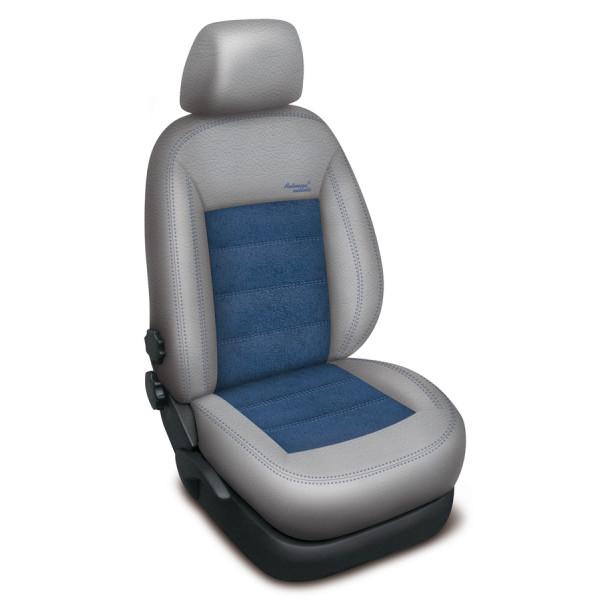 Autopotahy Volkswagen CADDY IV, 5 míst, od r. 2015, AUTHENTIC VELVET šedomodré