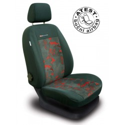 Autopotahy Škoda Fabia I, dělená, 5 opěrek hlavy, červené