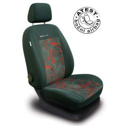 Autopotahy Škoda Fabia I, dělená, červené