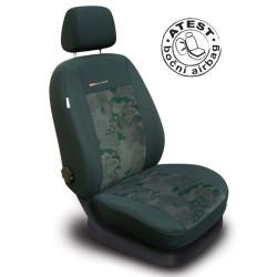Autopotahy Škoda Fabia I, dělená, 5 opěrek hlavy, zelené