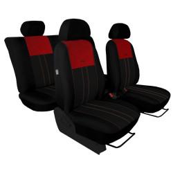 Autopotahy Škoda Octavia III, Tuning Duo, bez zadní loketní opěrky, vínovočerné