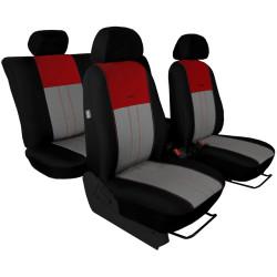 Autopotahy Škoda Octavia III, Tuning Duo, bez zadní loketní opěrky, vínovošedé