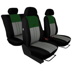 Autopotahy Škoda Octavia III, Tuning Duo, bez zadní loketní opěrky, zelenošedé
