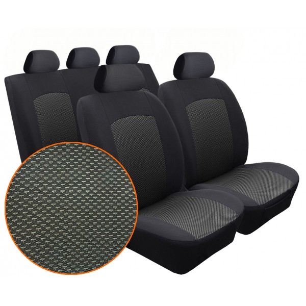 Autopotahy SEAT Mii, dělené, od r. 2011, DYNAMIC žakar tmavý
