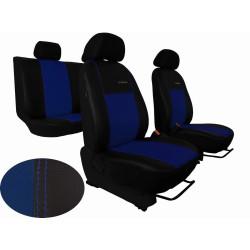 Autopotahy ŠKODA OCTAVIA III, integrované přední op. hlavy, EXCLUSIVE kůže modré