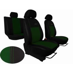 Autopotahy ŠKODA OCTAVIA III, integrované přední op. hlavy, EXCLUSIVE kůže zelené