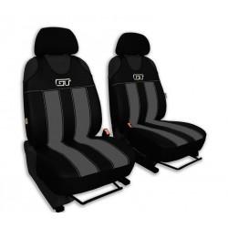 Autopotahy GT kožené, sada pro dvě sedadla, šedé
