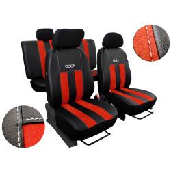 Autopotahy Honda Civic IX, 5 dveř, kombi, od r. 2012, kožené s alcantarou, GT cihlové
