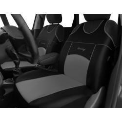 Autopotahy Autopotahy TUNING EXTREME KOŽENÉ, sada pro dvě sedadla, šedé