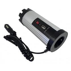 Měnič napětí z 12/220 V + USB 150 W