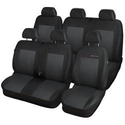 Autopotahy Volkswagen T5, 6 míst, 1+2+3 od r. 2003, černé