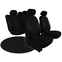Autopotahy VOLKSWAGEN POLO V, dělená zadní sedadla, od r. v. 2009, kožené PELLE černé