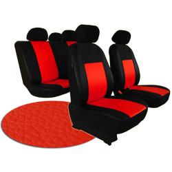 Autopotahy ŠKODA RAPID, integrované přední opěrky hlavy, PELLE červené