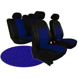Autopotahy ŠKODA RAPID, integrované přední opěrky hlavy, PELLE modré