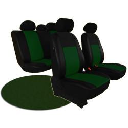 Autopotahy ŠKODA RAPID, integrované přední opěrky hlavy, PELLE zelené