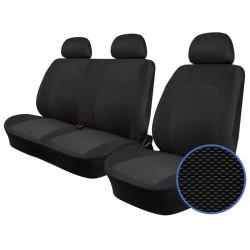 Autopotahy Fiat Doblo Cargo od r. 2015, 3 MÍSTA, žakar tmavý