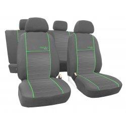 Autopotahy ŠKODA RAPID, integrované přední opěrky hlavy, Trend Line zelené