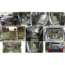 Autopotahy TOYOTA LAND CRUISER V8, 5 míst, MODEL 2016, ARMY styl