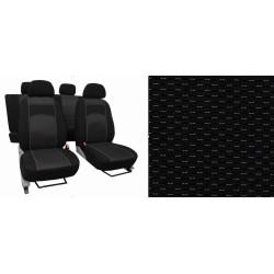 Autopotahy ŠKODA OCTAVIA III, integrované přední opěrky hlavy, VIP černé