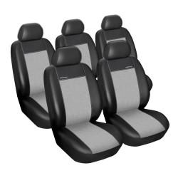 Autopotahy Ford Tranzit Custom, 3 místa, od r. v. 2012, Eco kůže + alcantara šedé