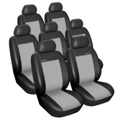 Autopotahy SEAT ALHAMBRA II, od r. 2010, 7 míst, Eko kůže šedé