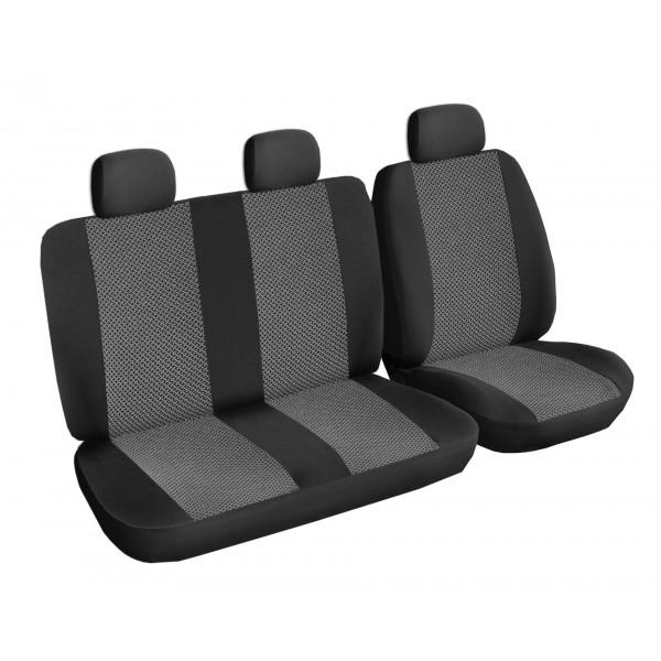 Autopotahy Volkswagen T4, 3 místa, od r. 1990-2003, šedo černé