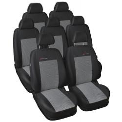 Autopotahy Volkswagen Sharan II, od r. 2010, 7 míst, šedo černé
