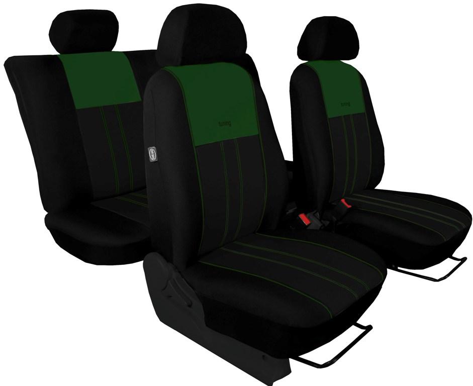 Autopotahy Škoda Octavia III, Tuning Duo, se zadní loketní opěrkou, zelenočerné