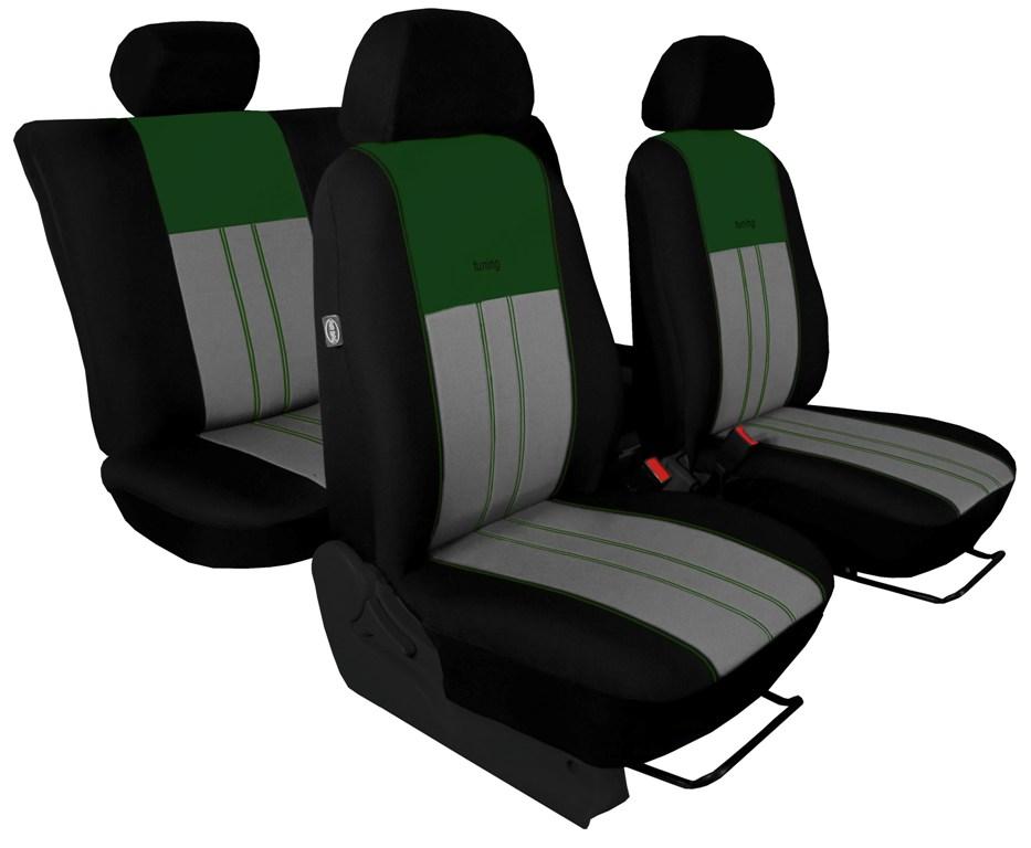 Autopotahy Škoda Octavia III, Tuning Duo, se zadní loketní opěrkou, zelenošedé