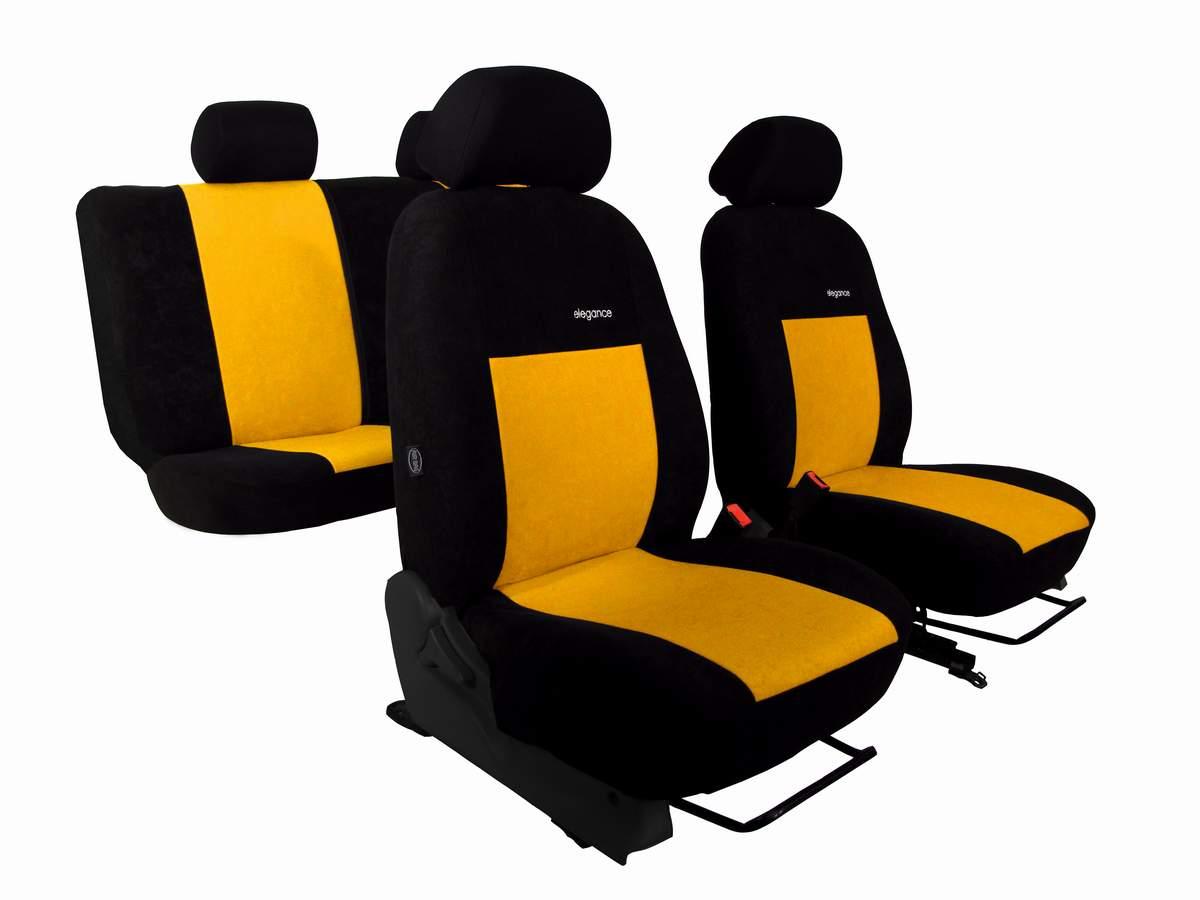 Autopotahy ELEGANCE ALCANTARA žluté