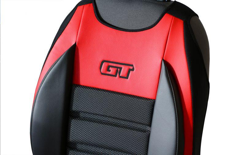 Ergonomický potah na 1 sedadlo GT ERGONOMIC LEATHER, čevený