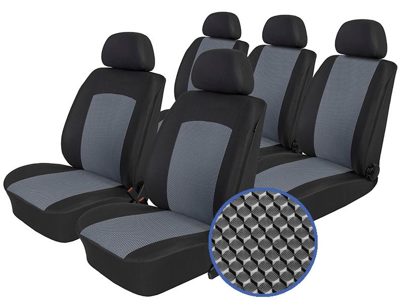 Autopotahy Ford C-Max I, od r.2003-2010, 5 míst, Dynamic šedé