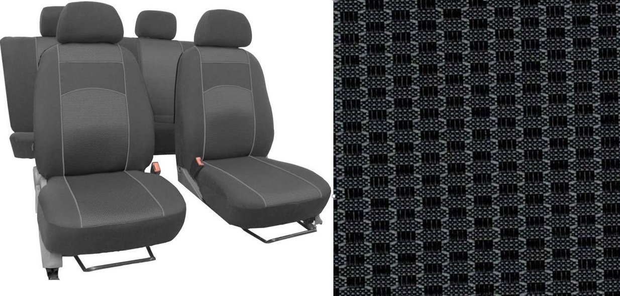 Autopotahy Volkswagen Golf VI, dělené zadní opěradlo, od r. 2008-2012, VIP šedé