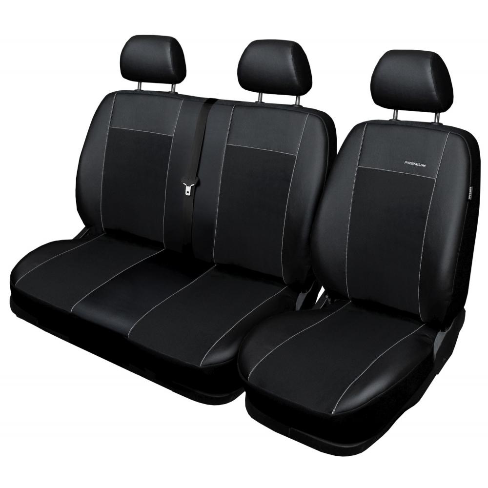 Autopotahy Mercedes Sprinter II, 3 místný, od r. 2006, Eco kůže + alcantara černé