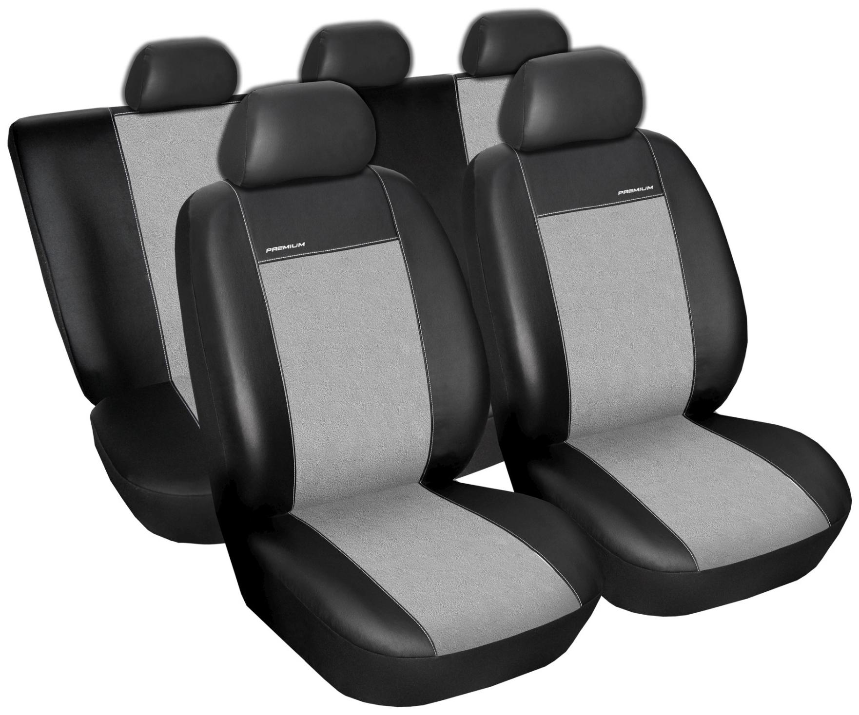 Autopotahy BMW 3, E-90, LIMUZINA, od r. 2005-2012, Eko kůže šedá