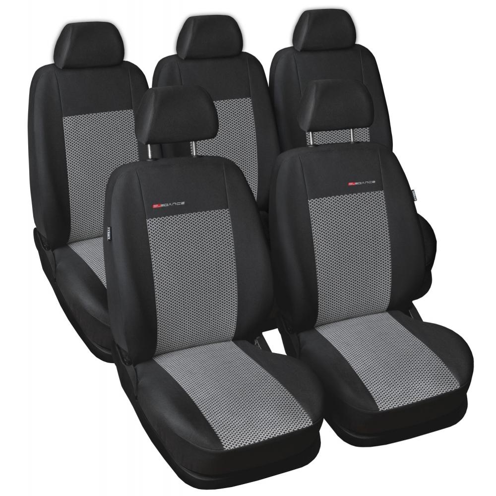 Autopotahy Ford S MAX I, od r. 2006-2015, 5 míst, šedo černé