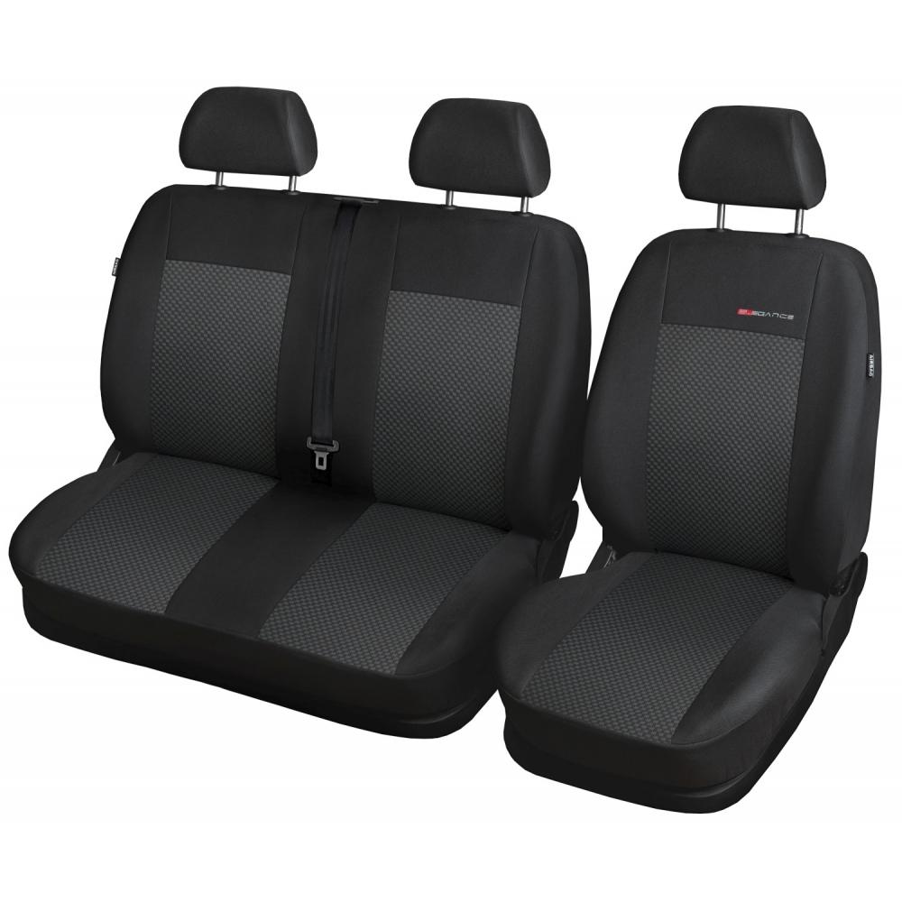 Autopotahy Ford Tranzit VII, 2+1, od 2013, černé